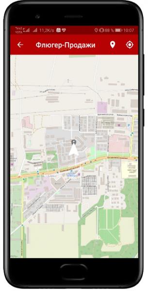 GPS координаты визита в торговую точку