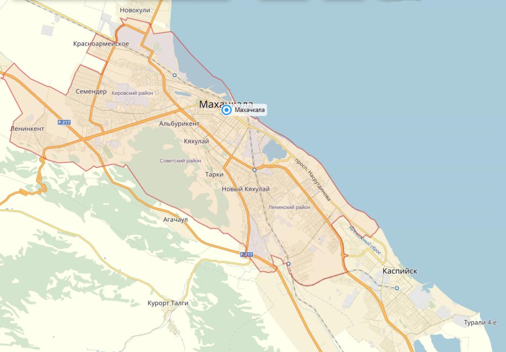 фото карты махачкалы
